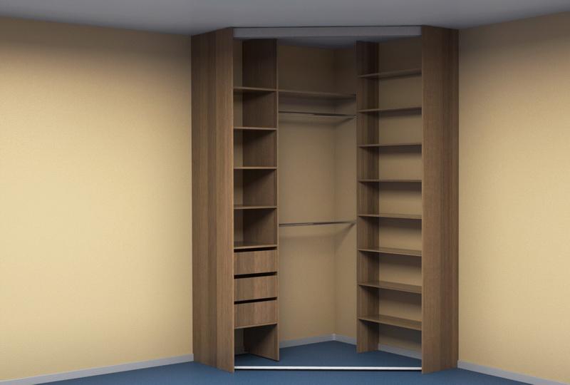 угловой шкаф купе в спальню Kupe74ru